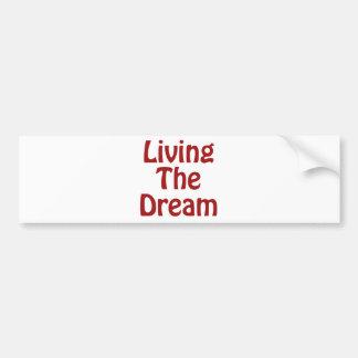 Leben der Traum Autoaufkleber