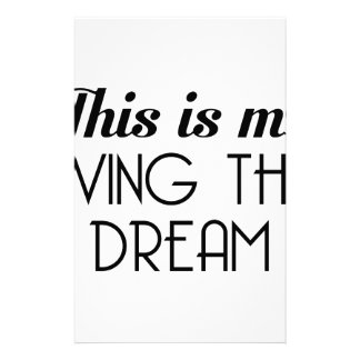 Leben der Traum Briefpapier