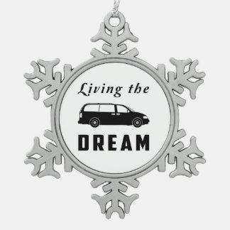 Leben der Traum Schneeflocken Zinn-Ornament