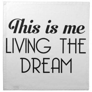 Leben der Traum Serviette