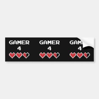 Leben des Gamer-4 Autoaufkleber