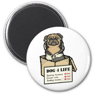 Leben des Hund4 Runder Magnet 5,7 Cm