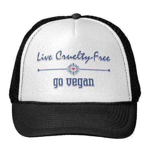 Leben die Grausamkeit, die frei ist, gehen vegan Retrokappe