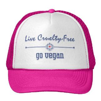 Leben die Grausamkeit, die frei ist, gehen vegan Retrokappen