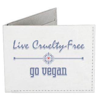 Leben die Grausamkeit, die frei ist, gehen vegan Tyvek® Geldbörse