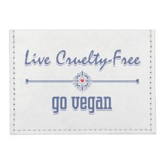 Leben die Grausamkeit, die frei ist, gehen vegan Tyvek® Kreditkartenhalter