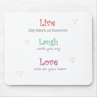 leben die Lachen-Liebe, inspirational, mousepad, F