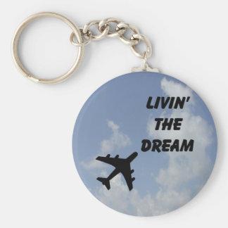 Leben die Traumwolke Keychain Schlüsselanhänger