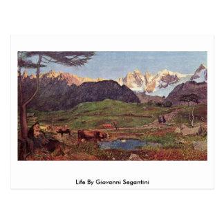 Leben durch Giovanni Segantini Postkarte