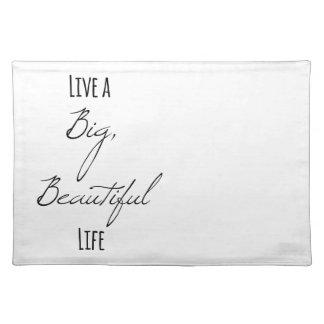 Leben ein großes, schönes Leben Tischset