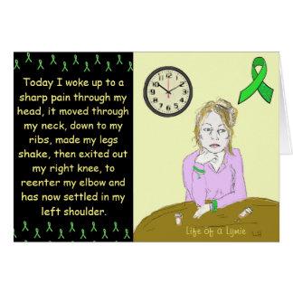 Leben einer Lymie Lyme Krankheits-kranken Dame Karte