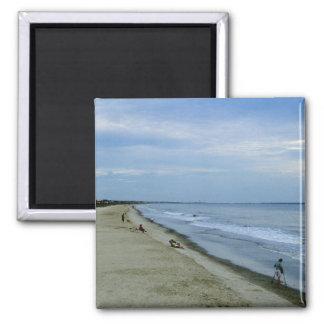 Leben entlang dem Strand Quadratischer Magnet