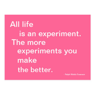 Leben-Experiment-Postkarte zitierfähig Postkarte