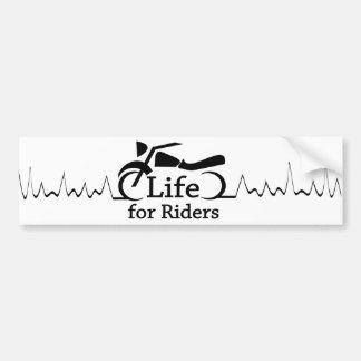 Leben für Reiter - passen Sie heraus für Autoaufkleber