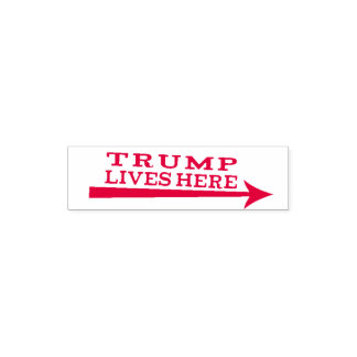 Leben-hier lustige Briefmarke Präsidenten-Donald Permastempel