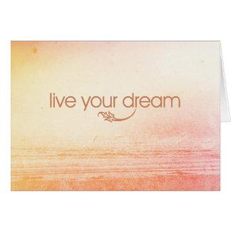Leben Ihr Traum Karte