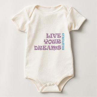 Leben Ihre Gymnastik-Träume Baby Strampler