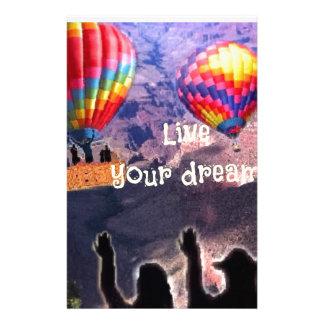 Leben Ihre Träume Briefpapier