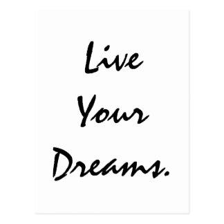 Leben Ihre Träume Postkarte