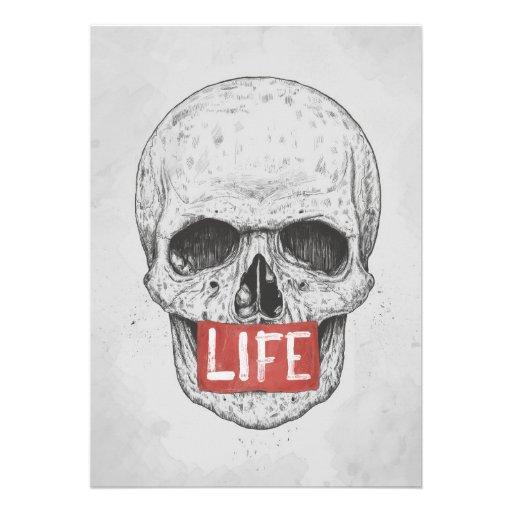 Leben II Einladungskarte