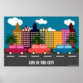 Leben in der Stadt Poster