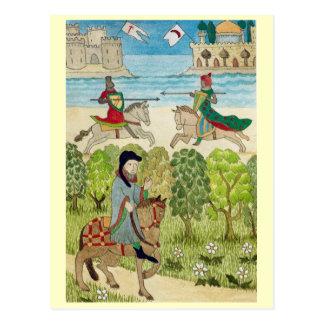 Leben in fröhlichem England, Szene vom mittelalter Postkarten