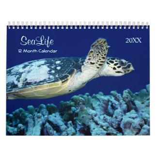 Leben-Kalender der Seefische-2018 und des Meeres Abreißkalender