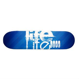 Leben; Königsblau-Streifen Personalisierte Skateboards