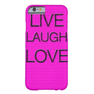 Leben Lachen-Liebe 3D iPhone 6 Fall Barely There iPhone 6 Hülle