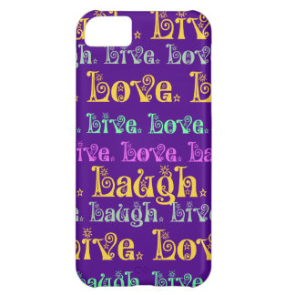 Leben Lachen-Liebe-aufmunternde Wörter lila Girly iPhone 5C Schale