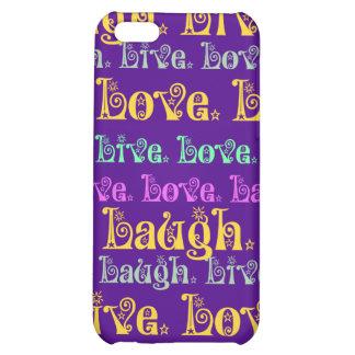 Leben Lachen-Liebe-aufmunternde Wörter lila Girly iPhone 5C Hülle