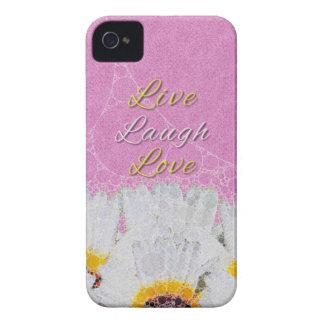 Leben Lachen-Liebe-Blumen Case-Mate iPhone 4 Hüllen