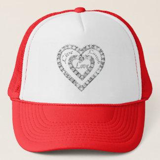 Leben Lachen-Liebe-Diamant-Herz-Hut Truckerkappe