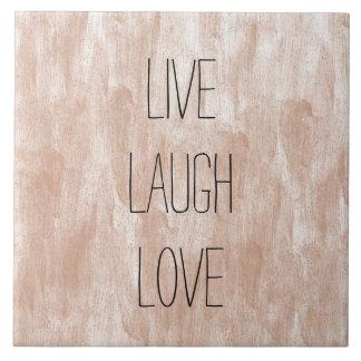 Leben Lachen-Liebe Fliese