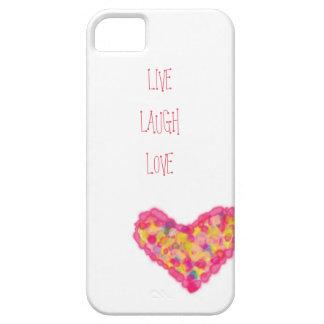 leben Lachen-Liebe iPhone 5 Schutzhüllen