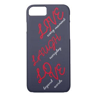 Leben Lachen-Liebe iPhone 8/7 Hülle