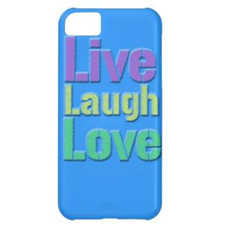Leben Lachen-Liebe iPhone Fall iPhone 5C Hüllen
