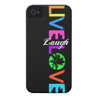 Leben Lachen-Liebe iPhone Fall iPhone 4 Case-Mate Hüllen