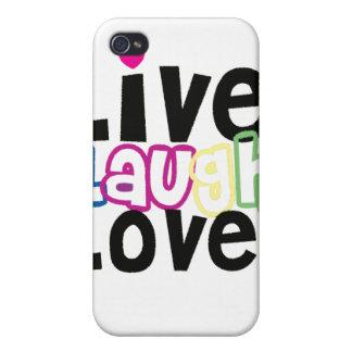 Leben Lachen-Liebe iPhone Fall iPhone 4 Cover
