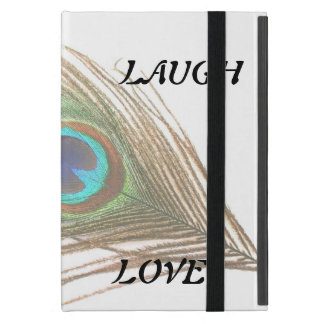 Leben Lachen-Liebe-Pfau-Feder Etui Fürs iPad Mini
