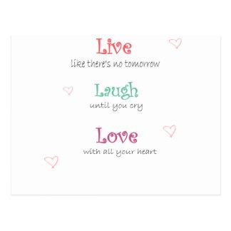 Leben Lachen-Liebe Postkarte
