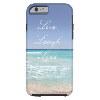 Leben Lachen-Liebe-Strand iPhone 6/6s Fall Tough iPhone 6 Hülle