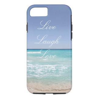 Leben Lachen-Liebe-Strand iPhone 7 Fall iPhone 7 Hülle