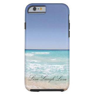 Leben Lachen-Liebe-Strand-Ozean-Telefon-Kasten Tough iPhone 6 Hülle