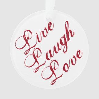Leben Lachen-Liebe-Verzierung mit grünem Ornament