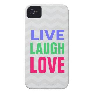 Leben Lachen-Liebe, Zickzack Hintergrund iPhone 4/ Case-Mate iPhone 4 Hülle