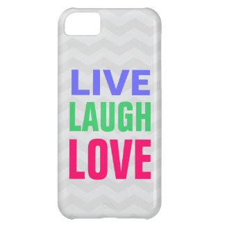 Leben Lachen-Liebe, Zickzack Hintergrund iPhone 5 Hüllen Für iPhone 5C