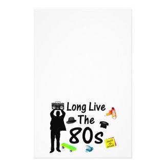 Leben lang die 80er Kultur Briefpapier