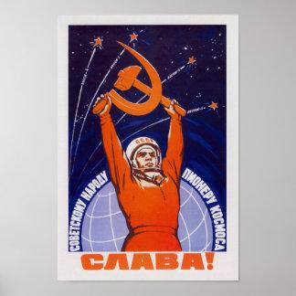 Leben lang die sowjetischen Leute - die Poster