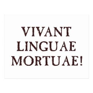 Leben lang tote Sprachen - Latein Postkarte